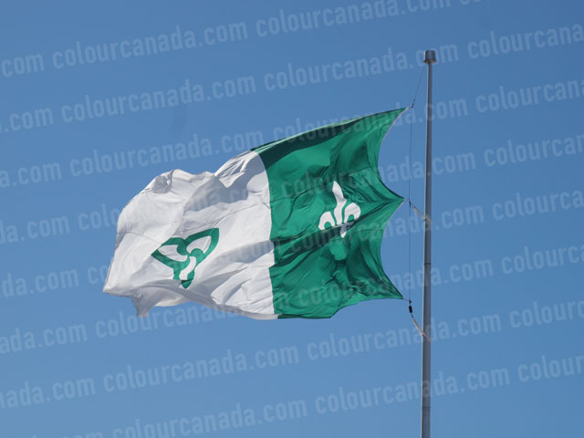 Franco-Ontario Flag | Cheap Stock Photo