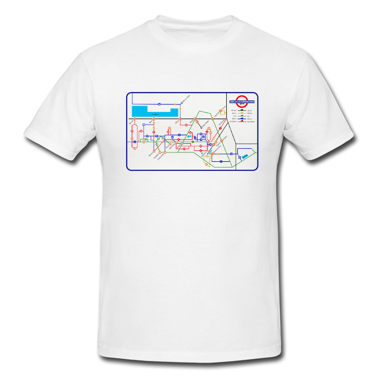 Gatineau Park Trail Map as the London Subway Map T Shirt