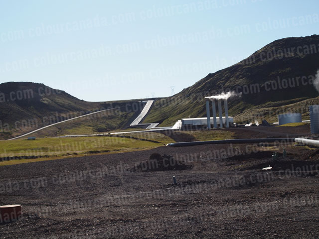 Geothermal Plant and Pipeline | Cheap Stock Photo