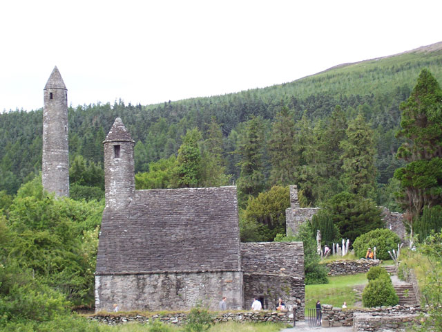Glendalough (2) Stone Buildings Ireland | Cheap Stock Photo