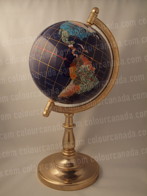 Globe with Brass Stand | Cheap Stock Photo