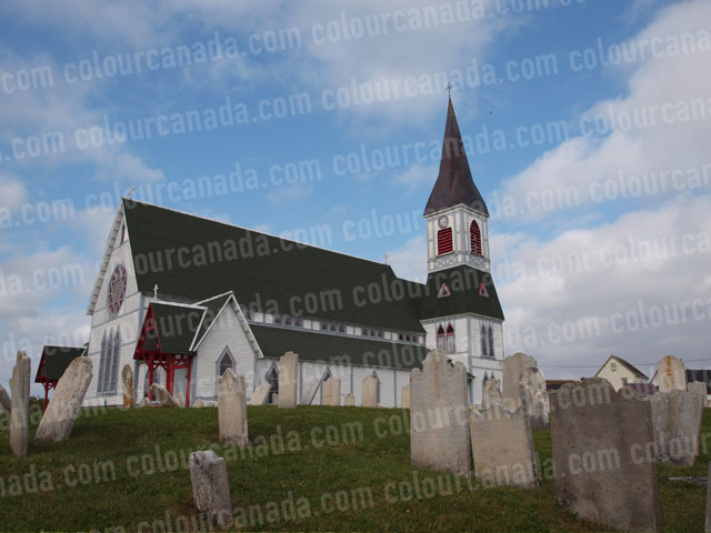 Grave Yard and Country Church | Cheap Stock Photo