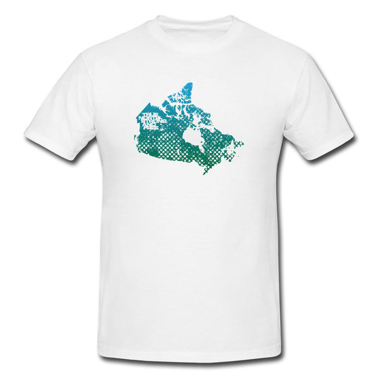Grunge True North Strong And Free Map T Shirt