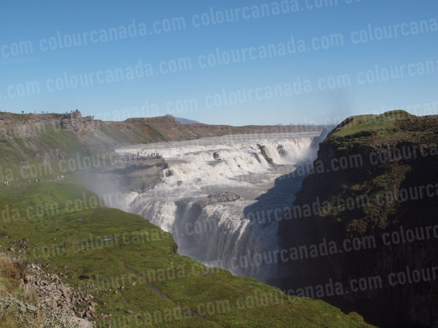 Gullfoss Glacier Fed Waterfall Iceland | Cheap Stock Photo - Click Image to Close