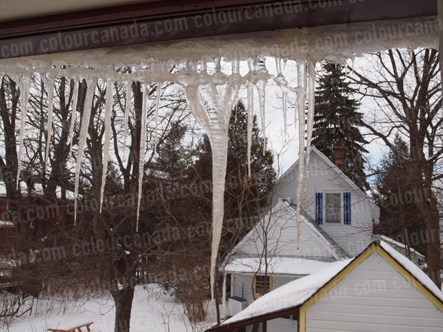 Icicles on the Roof (2) | Cheap Stock Photo