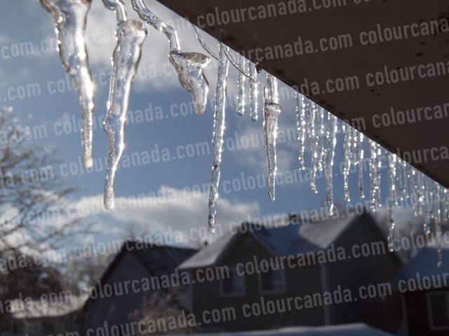 Icicles on the Roof (4) | Cheap Stock Photo