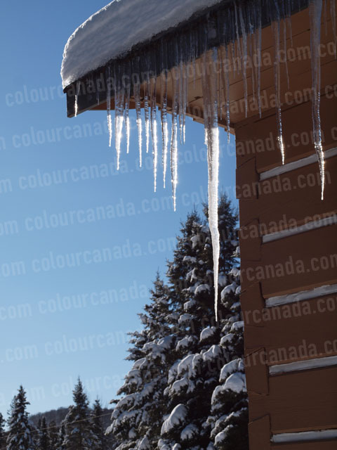 Icicles on the Roof (5) | Cheap Stock Photo