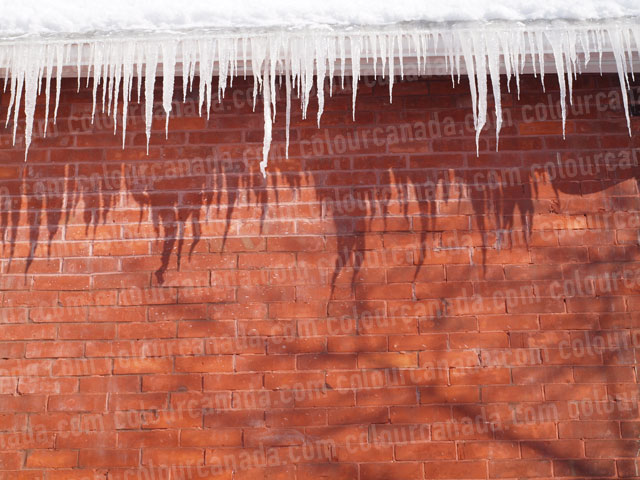Icicles on a Roof (7) | Cheap Stock Photo
