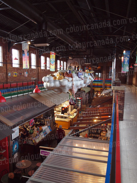 Indoor Market from Above | Cheap Stock Photo