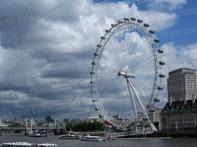 London Eye Ferris Wheel | Cheap Stock Photo