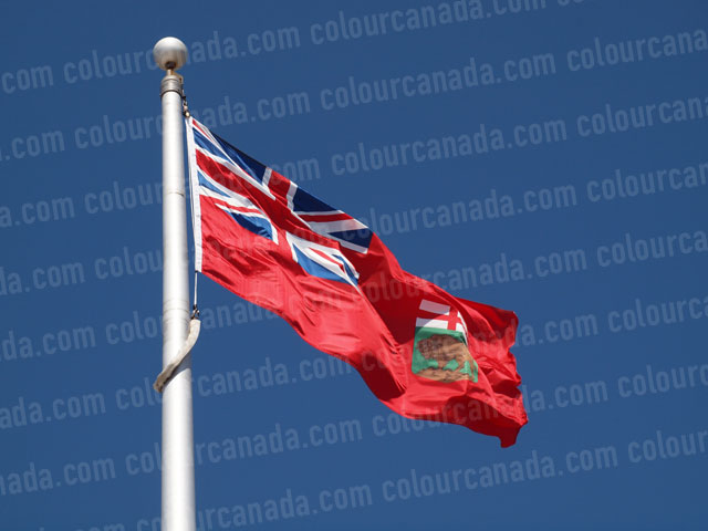 Manitoba's Flag (1) | Cheap Stock Photo