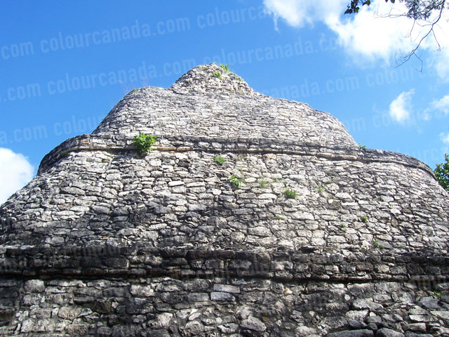 Mayan Pyramid at Coba Mexico | Cheap Stock Photo