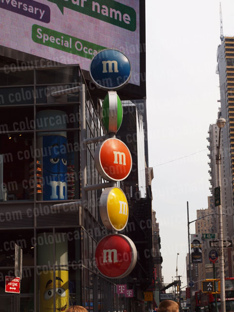M & M Sign New York City | Cheap Stock Photo