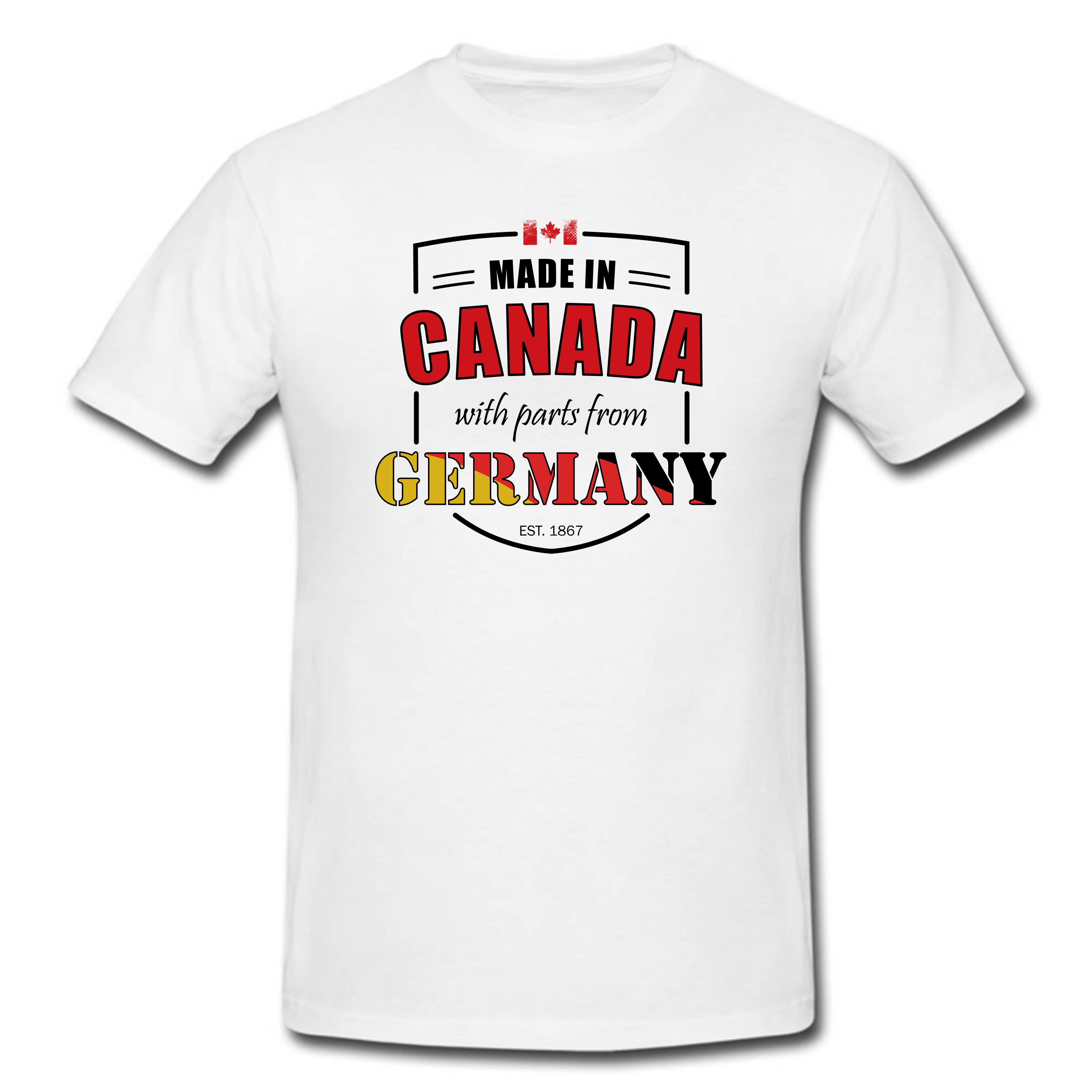 Made in Canada with parts from Germany T Shirt