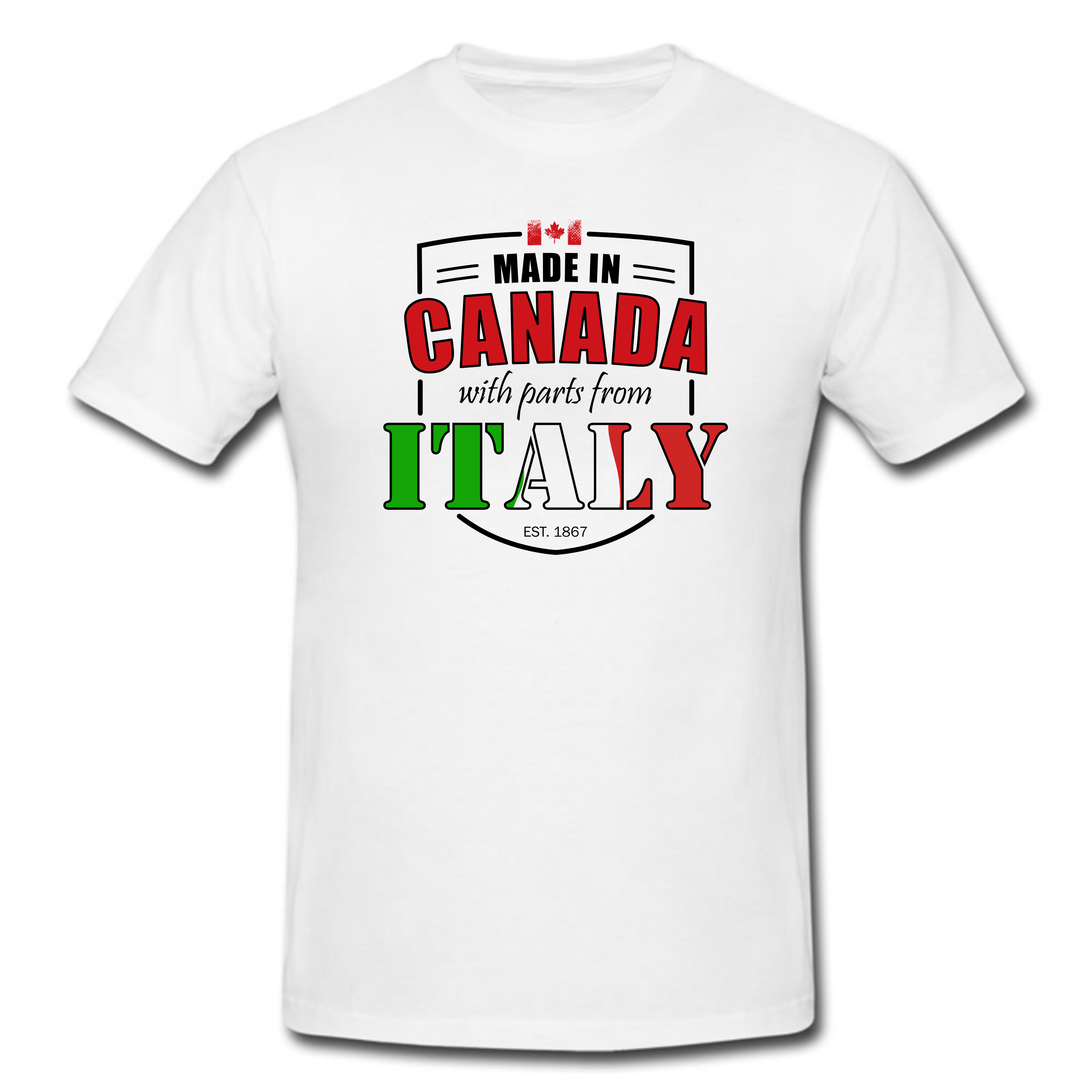 Made in Canada with parts from Italy T Shirt