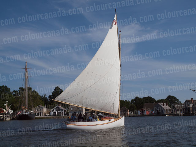 Mystic Conn. Classic Skiff | Cheap Stock Photo