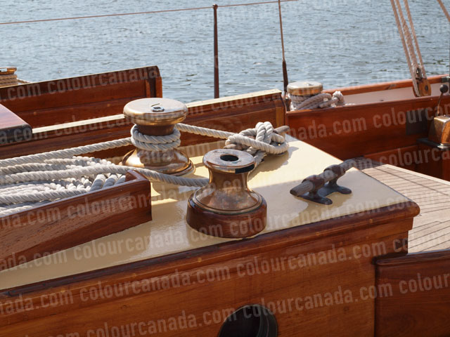 Nautical Antique Bronze Winches | Cheap Stock Photo