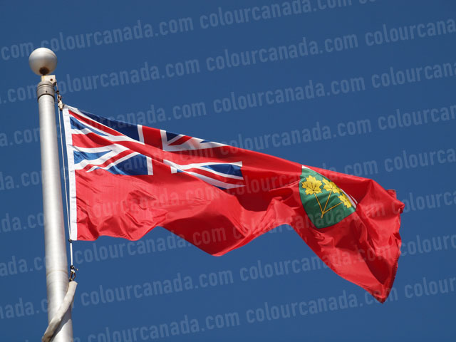 Ontario's Flag (2) | Cheap Stock Photo