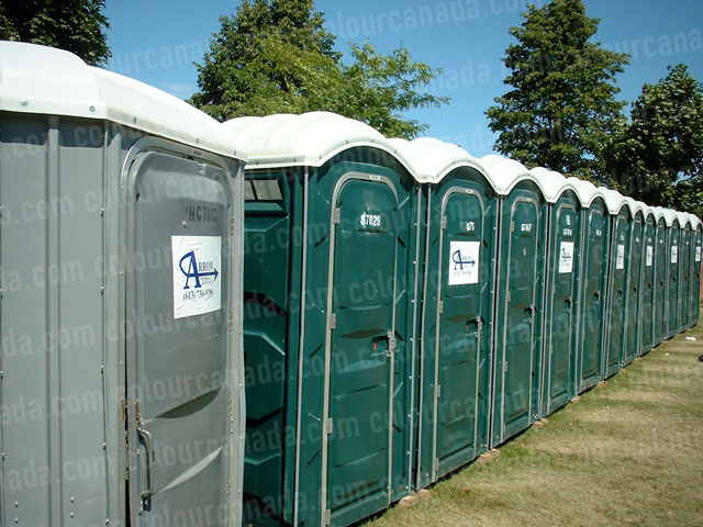 Outhouse in a Row | Cheap Stock Photo