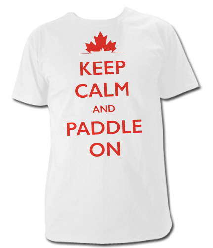 Keep Calm and Paddle on T Shirt