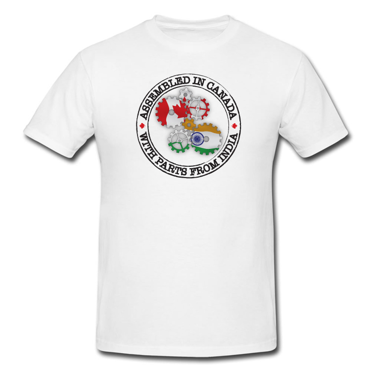 Assembled in Canada with parts from India T Shirt