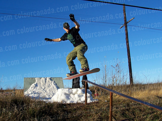 Pembroke Snowboarder | Cheap Stock Photo