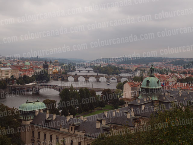 Prague (1) River and Bridges | Cheap Stock Photo