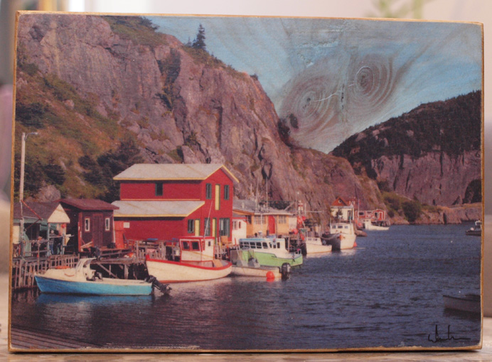 Original Photo Print | Quidi Vidi Newfoundland | Reclaimed Wood
