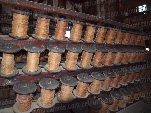 Vintage Twine Spools Rope Machine | Cheap Stock Photo