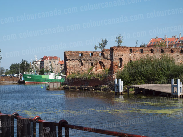 Ruined Brick Building in Gdansk, Poland | Cheap Stock Photo