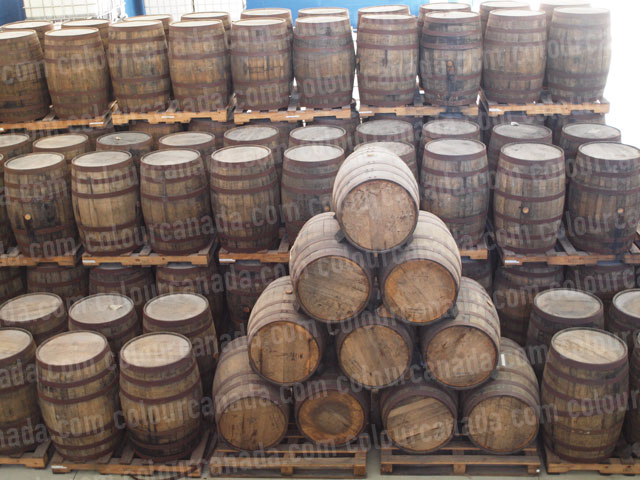 Rum Barrels (1) Distillery | Cheap Stock Photo