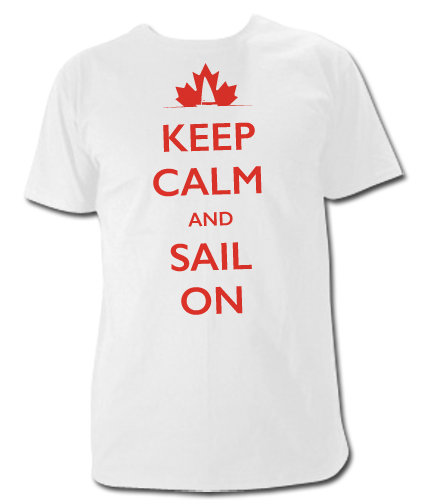 Keep Calm and Sail on T Shirt