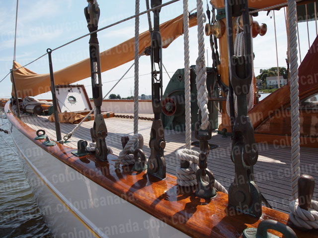 Bow and Rigging of Vintage Sailboat | Cheap Stock Photo
