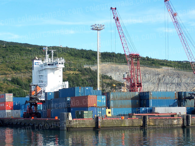 Shipping Containers at a Port | Cheap Stock Photo