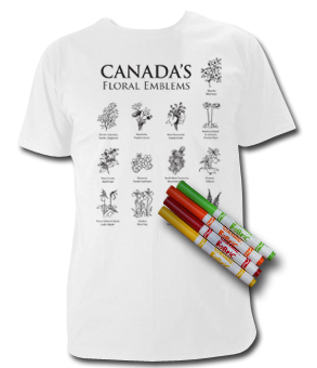 Provincial and Territorial Flowers Colour Your Own T Shirt