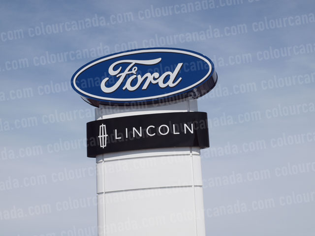 Sign Ford Lincoln (1) | Cheap Stock Photo