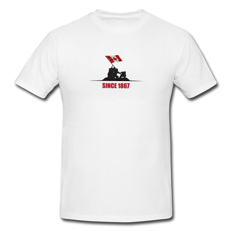 Since 1867 Canada Flag Raising T Shirt