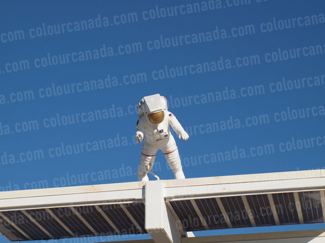 Astronaut on the Roof | Cheap Stock Photo