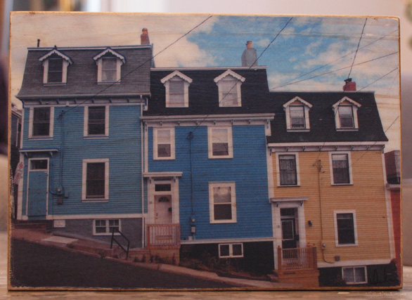 Original Photo Print | St. John's Houses | Reclaimed Wood