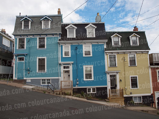 St. John's (2) Colourful Houses | Cheap Stock Photo