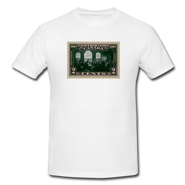 Confederation Vintage Stamp T Shirt