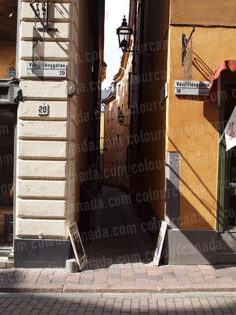 Narrow Alley in Stockholm, Sweden | Cheap Stock Photo