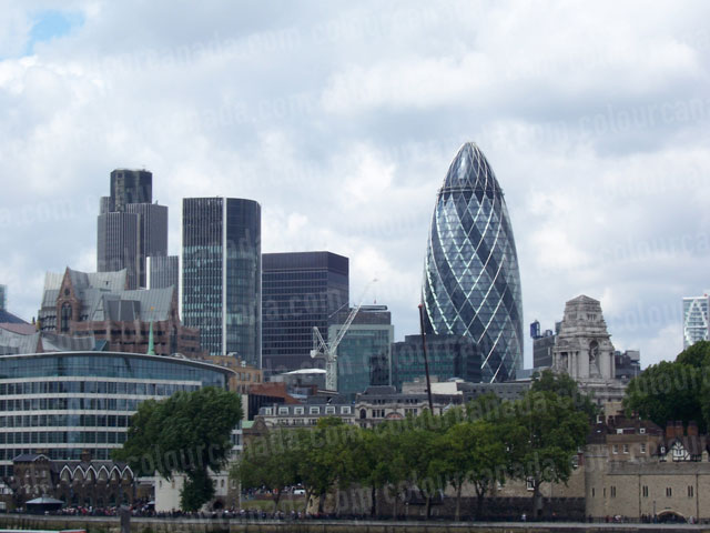 The Gherkin and London Skyline | Cheap Stock Photo