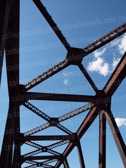 Train Bridge (1) Steel Girders | Cheap Stock Photo