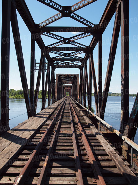 Train Bridge (2) Tracks and Girders | Cheap Stock Photo - Click Image to Close
