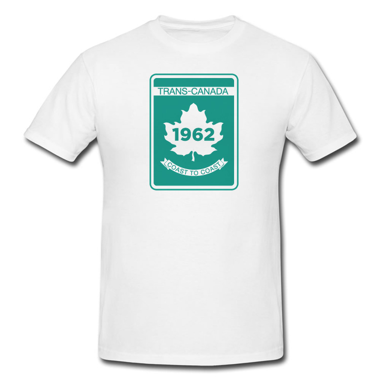 Trans Canada Highway Sign T Shirt in White or Black