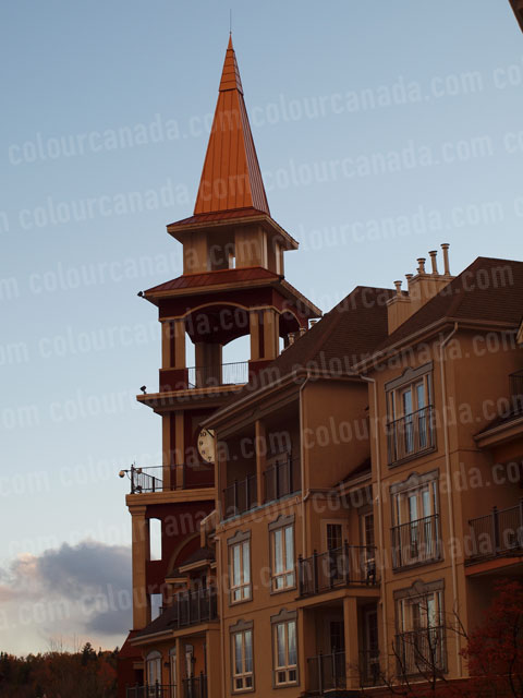 Mont Tremblant Village Spire | Cheap Stock Photo