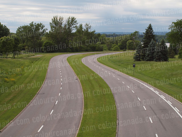 Two Lane Road with Curves | Cheap Stock Photo
