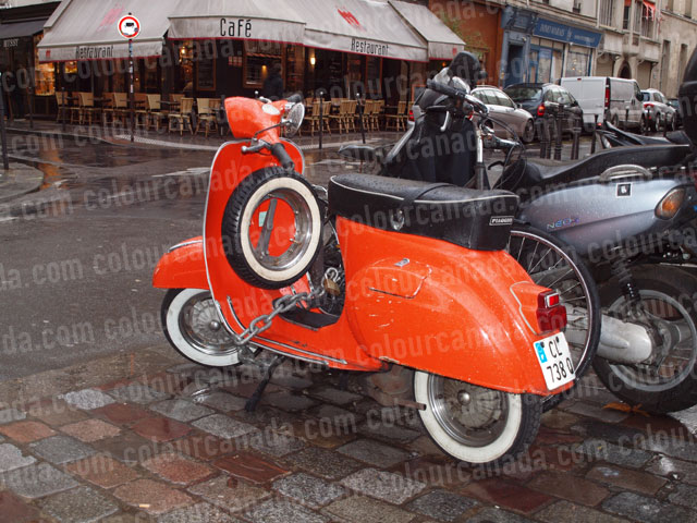 Vintage Orange Scooter | Cheap Stock Photo