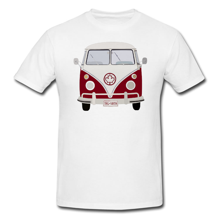 Canadian VW Bus Cross Country Road Trip T Shirt